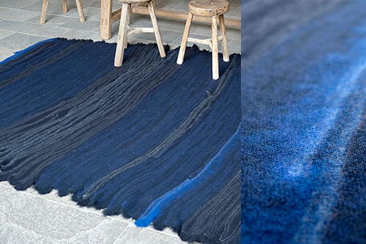 Teppichunikat von 13RUGS | Deep Blue | Dunkelblau, Murano