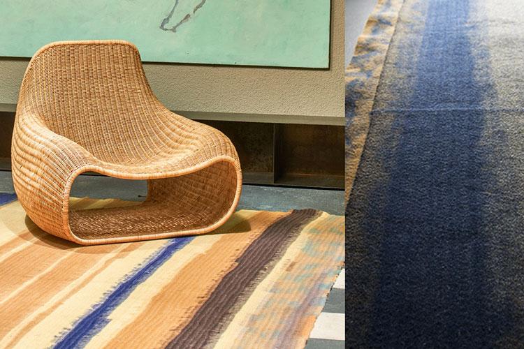 Teppichunikat von 13RUGS | African | Sand, Blau, Braun